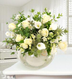 Rome - Haute Florist Bouquet - Luxury Flowers - White Bouquet - Luxury Flower Delivery