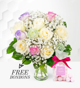 Unicorn Roses - Free Bon Bons - Roses Bouquet - Birthday Flowers - Next Day Flower Delivery - Flower Delivery