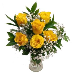 6 Yellow Roses Bouquet